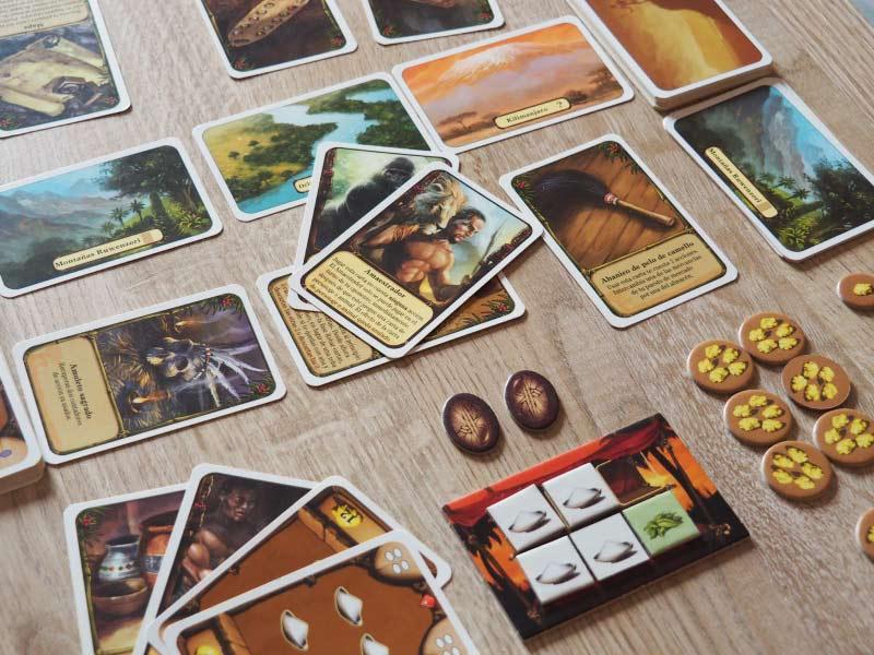 Partida en desarrollo de Asante, el juego de mesa para parejas