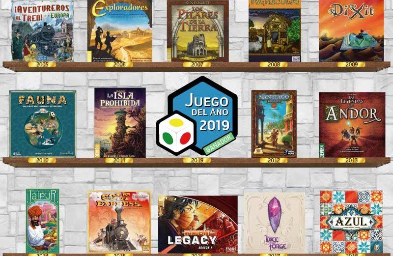 ¿Cuál ha sido el mejor juego de mesa del año 2019?