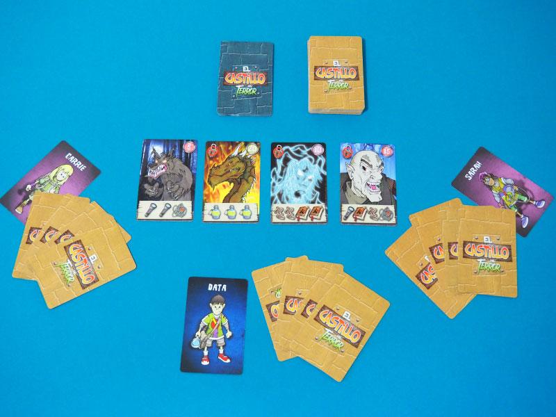 Setup preparado para jugar una partida a 3 jugadores