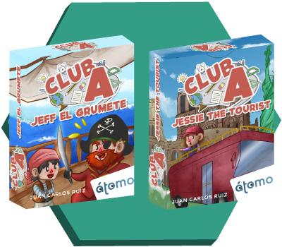 Portadas de Jeff el grumete y Jessie the tourist de Club A