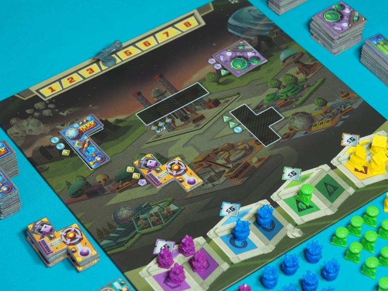 Los jugadores obtienen recursos para comprar posteriormente edificios
