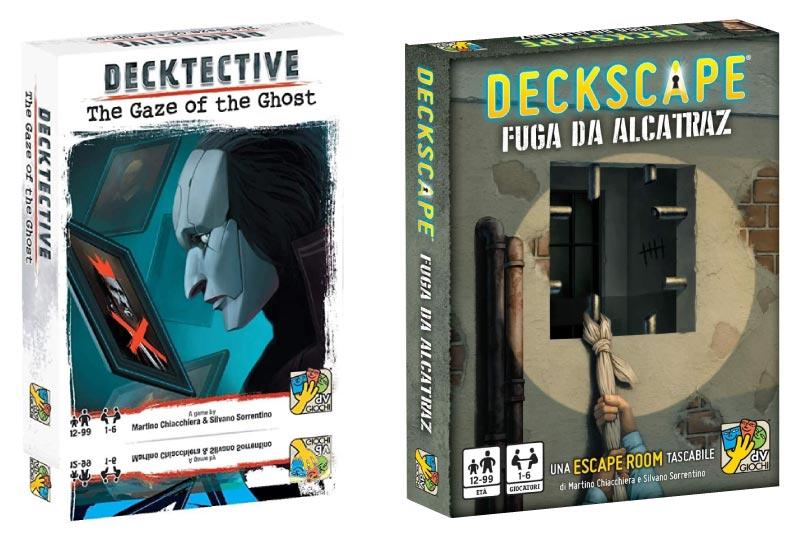 Portadas de Decktective, La Mirada del Fantasma y ¡Escapa!, Fuga de Alcatraz
