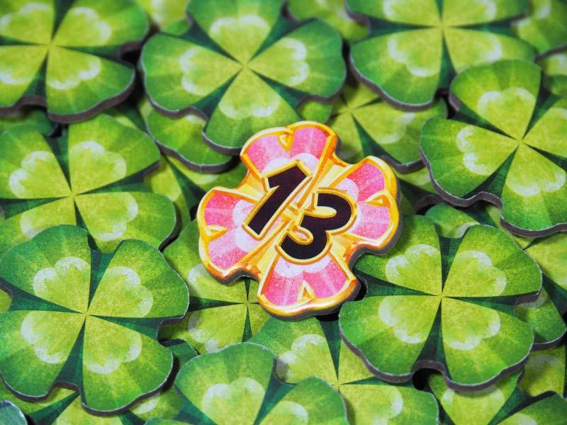 Detalle de las fichas de la suerte en Lucky Numbers