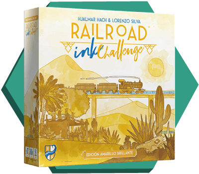 Portada de Railroad Ink amarillo