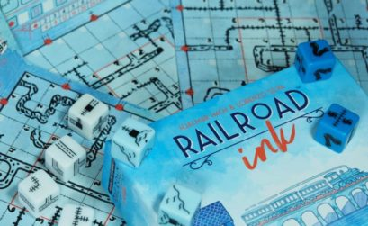 Un roll and write de construcción de rutas ferroviarias