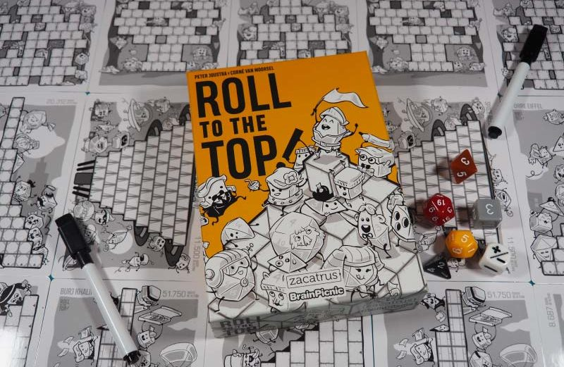 Roll to the Top! el juego de mesa donde llegar a lo más alto