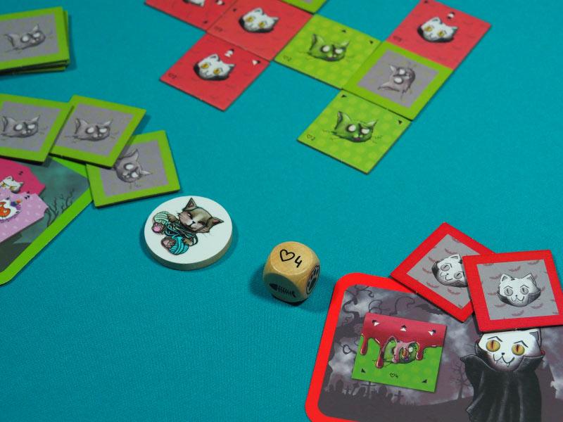 Transcurso de una partida a este juego de colocación de losetas