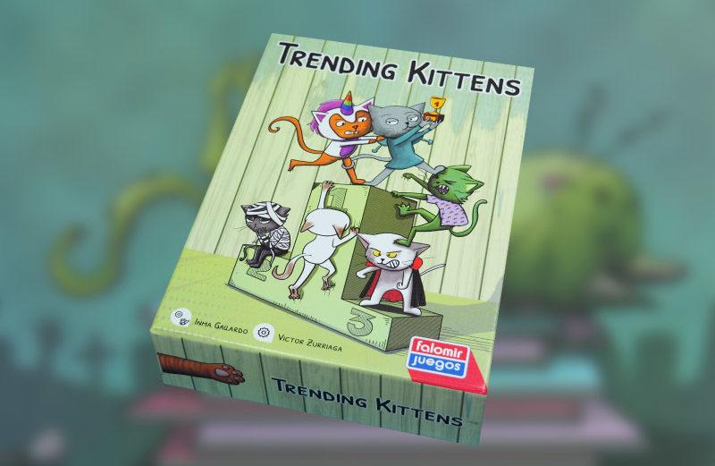 Trending Kittens, juego de mesa con lucha de poder gatuno