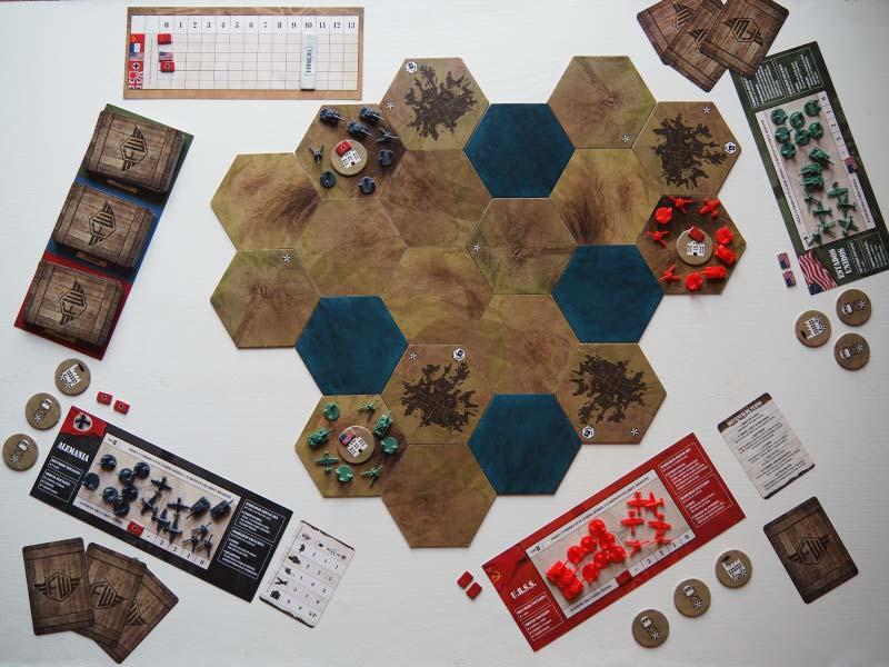 Comenzando una partida a tres en Frontier Wars