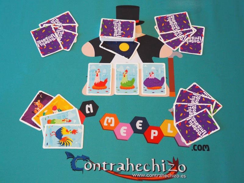 Así se juega a ¡Desplumados! el juego de mesa de Venatus Ediciones
