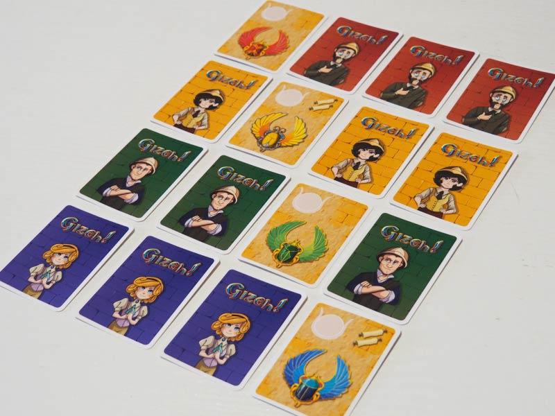 Elige uno de los intrépidos aventureros en el juego de mesa Gizeh!