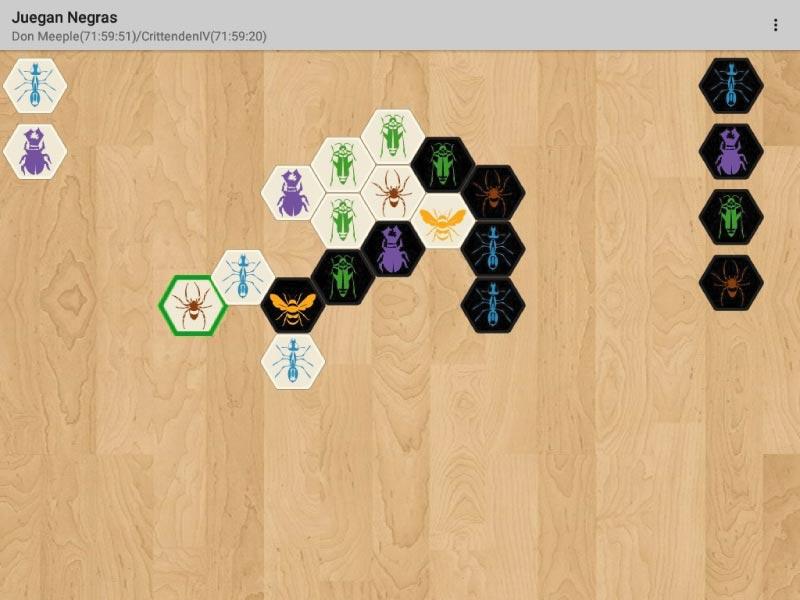 Partida digitla al juego de mesa Hive: La Colmena
