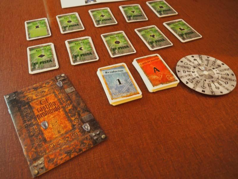 Setup inicial para jugar al juego de mesa Exit: El castillo perdido