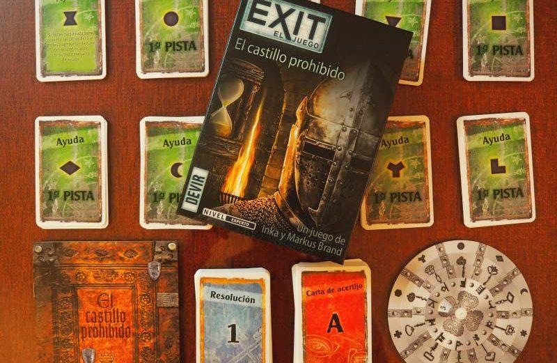 Exit: El castillo prohibido, un Escape Room en juego de mesa
