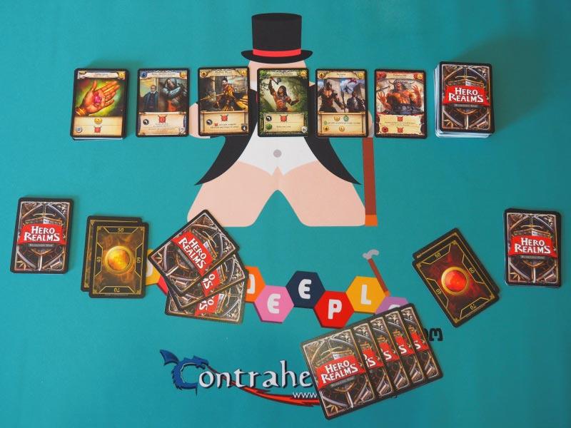 Setup inicial a 2 jugadores, el número perfecto de este juego de mesa