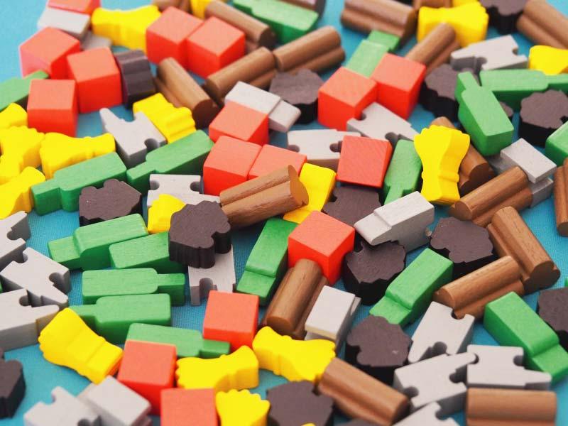 Tokens de madera para complementar el juego base