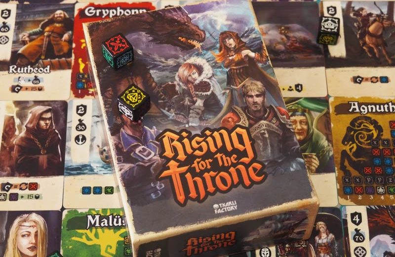 Rising for the Throne, lucha por el reino en este juego de mesa
