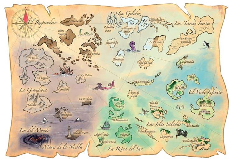 La Gran Dama Azul, el mapa de la aventura de este 8 Tesoros