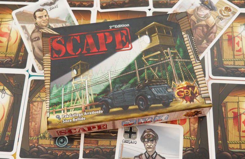 SCAPE, un juego de mesa de huida y roles ocultos