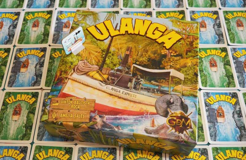 Surcando el río Ulanga con el juego de mesa de comerciantes