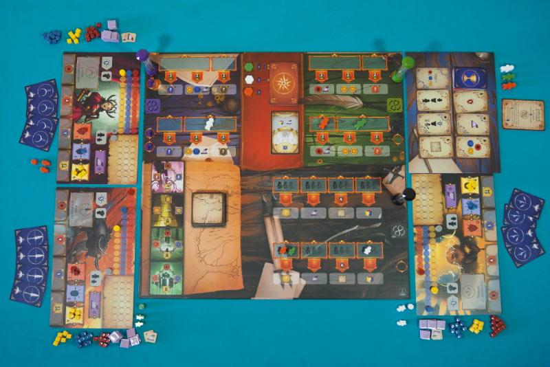 Setup a punto para jugar una partida a 3 jugadores