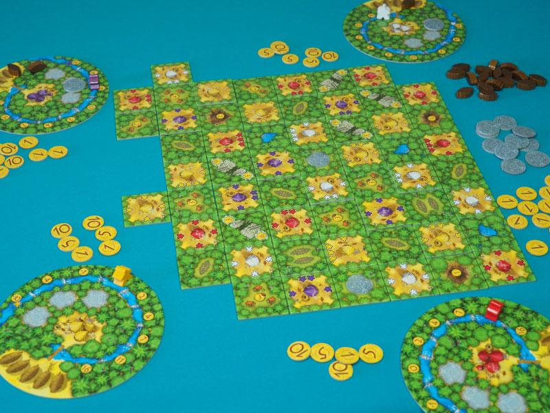 Colocamos una loseta de recolector, comprobamos la selva y activamos acciones de juego