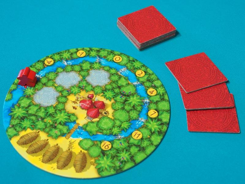 Setup inicial del jugador rojo para jugar una partida a Cacao