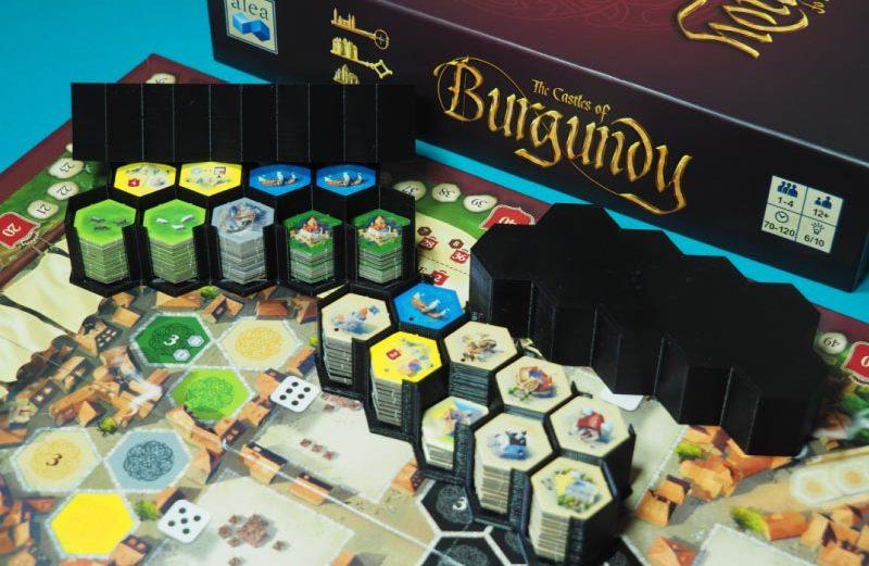 Organizador de losetas para Los Castillos de Borgoña